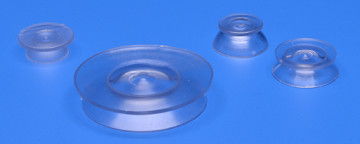 Suction cup with flange