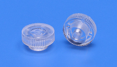 Plastic knurled nut M4 thread approx. Ø 16mm clear