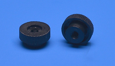 Plastic knurled nut M4 thread approx. Ø 16mm black