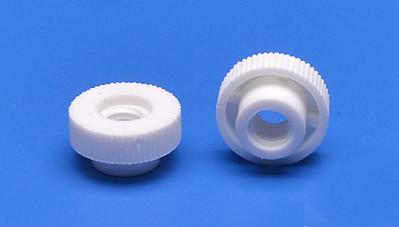 Kunststoff-Rändelmutter Weiß M6