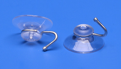 Suction cup Ø 30mm with metal hook