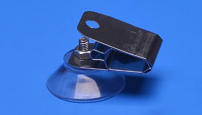 Saugnapf mit Edelstahlclip 30mm