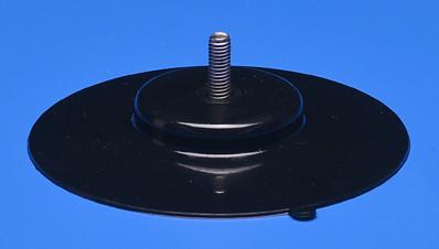 Saugnapf 100mm mit Gewinde M6 (V2A) 16mm schwarz