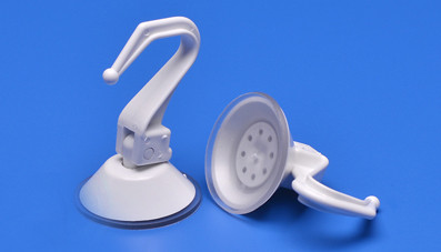 Tipping hook with suction cup