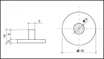PVC Hemmfuss 18mm Durchmesser