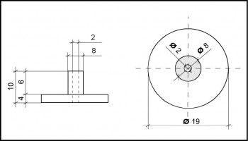 PVC Hemmfuss 19mm Durchmesser