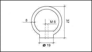 Ringmutter M6