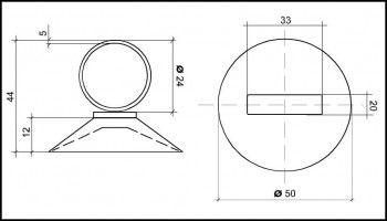 Saugnapf 50mm mit Öse 24mm