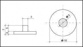 PVC Hemmfuss 10mm Durchmesser