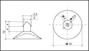 PVC Hemmfuss 13mm Durchmesser