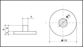 PVC Hemmfuss 15mm Durchmesser