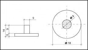 PVC Hemmfuss 18mm of diameter