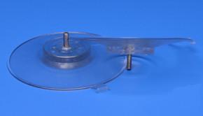 Saugnapf 130mm mit Gewinde M6 (V2A) 16mm transparent