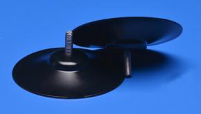 Saugnapf 80mm mit Gewinde M6 (V2A) 16mm schwarz