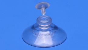 Ziersteckkappe für Knopfsauger transparent