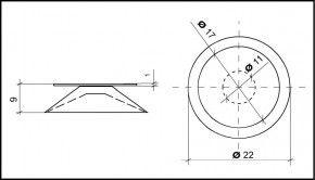 Saugnapf 22mm Durchmesser mit Flansch 17mm