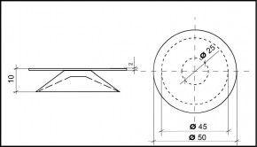 Saugnapf 45mm Durchmesser mit Flansch 50mm